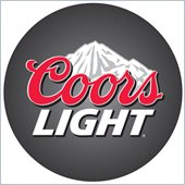 Trademark Retro Coors Light Logo Padded Bar Stool