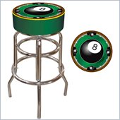 Trademark Retro Rack'em 8-Ball Padded Bar Stool