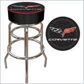 Trademark Retro Corvette C6 Padded Bar Stool - Black
