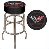 Trademark Retro Corvette C5 Padded Bar Stool - Black