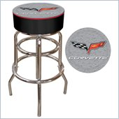 Trademark Retro Corvette C6 Padded Bar Stool - Silver