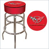 Trademark Retro Corvette C5 Padded Bar Stool - Red