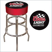 Trademark Retro Coors Light Racing Logo Padded Bar Stool