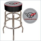 Trademark Retro Corvette C5 Padded Bar Stool - Silver