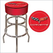 Trademark Retro Corvette C6 Padded Bar Stool - Red