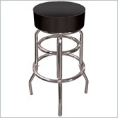 Tradeark Retro High Grade Black Padded Bar Stool