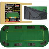 Trademark Texas Holdem Full Size Folding Poker Table Top in Green