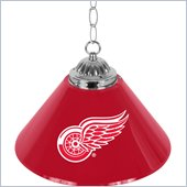 Trademark NHL Detroit Redwings 14 Inch Single Shade Bar Lamp