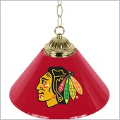 Trademark NHL Chicago Blackhawks 14 Inch Single Shade Bar Lamp