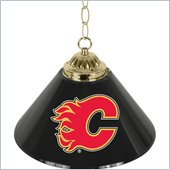 Trademark NHL Calgary Flames 14 Inch Single Shade Bar Lamp