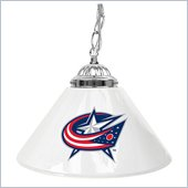 Trademark NHL Columbus Blue Jackets 14 Inch Single Shade Bar Lamp