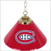 Trademark NHL Montreal Canadiens 14 Inch Single Shade Bar Lamp