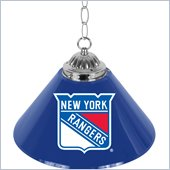 Trademark NHL New York Rangers 14 Inch Single Shade Bar Lamp