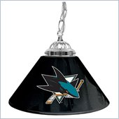 Trademark NHL San Jose Sharks 14 Inch Single Shade Bar Lamp