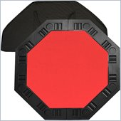 Trademark Global 8 Player 48 Octagonal Table Top in Red