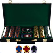 Trademark 300 Tri-Color Suit Design Set w/ Deluxe Case