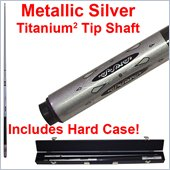 Trademark Metallic Silver Titanium Cue Billiard Stick