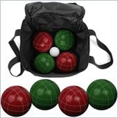 Trademark 9 Piece Bocce Ball Set with Easy Carry Nylon Bag