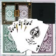 ADD TO YOUR SET: Trademark Kem 100% Plastic Playing Cards - Brown & Green Narrow