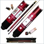 Trademark Red Royal Flush Poker Pool Stick