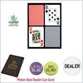 Trademark CopagT Poker Size Plastic Playing Cards & Dealer Kit