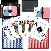 Trademark CopagT Poker Size Peek Index - Blue*Red Setup