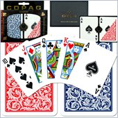 Trademark CopagT Poker Size Regular Index - Blue*Red Setup