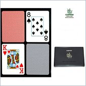 Trademark CopagT Poker Size Jumbo Index - Blue*Red Export Setup