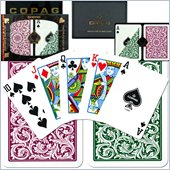 Trademark CopagT Poker Size Regular Index - Green*Burgundy Setup