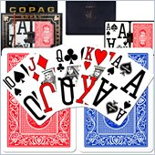 Trademark CopagT Poker Size Magnum Index - Blue 'Red Setup