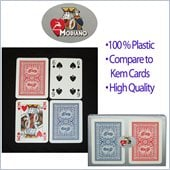 Trademark Modiano 100% Plastic Poker Size Reg Index Old Trophy Setup