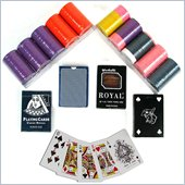 Trademark Set of 200 Hot Stamped 8g Chips and 4 decks of cards