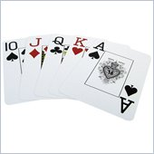 Trademark Marion Pro Poker Jumbo 100% Plastic Playing Cards Blue