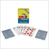 Trademark Modiano Blue Single Deck 100% Plastic Poker Size Reg Index