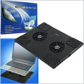 Trademark Global Laptop Buddy Notebook USB Cooling Pad with 2 Fans