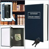 Trademark Global Dictionary Diversion Book Safe with Key Lock in Metal