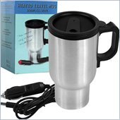 Trademark Global Joe Traveller Heated Stainless Steel 12 Volt Travel Mug