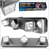 Trademark Global Under Cabinet Light Fixture 3 Light Heads with 9 Bright LEDs