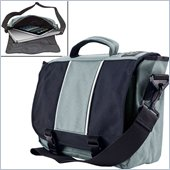 Trademark Global AJ Kitt Sport Hipster Messenger Bag in Gray with Media Pouch