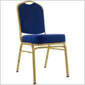 Trademark Global Deluxe Padded Metal Chair in Blue