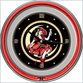 Trademark Global Miller High Life Girl in the Moon Vintage 14 Inch Neon Clock