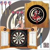 Trademark Global Miller Girl in the Moon Dart Cabinet with Darts and Board included