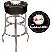 Trademark Global Corvette C1 Padded Bar Stool in Black