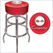 Trademark Global Corvette C1 Padded Bar Stool in Red