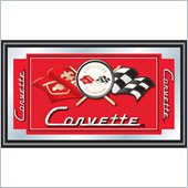 Trademark Global Corvette C1 Framed Mirror in Red