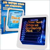 Trademark Global Trademark Home LED Writing Menu Message Board - White