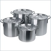 Trademark Global Hoffritz 4 pc. Nesting Aluminum Stockpot Set w/ Lids