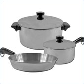 Trademark Global 5pc REVERE Stainless Steel Aluminum Disc Cookware Set