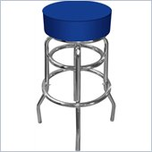 Trademark Global High Grade Blue Padded Bar Stool in Blue