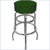 Trademark Global High Grade Blue Padded Bar Stool in Green